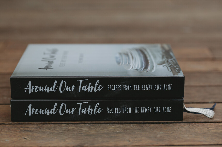 Around Our Table cookbook design by Creative Box