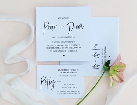Wedding collection by Creative Box, New Zealand